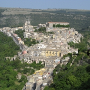 Il centro storico di Ragusa Ibla in Sicilia